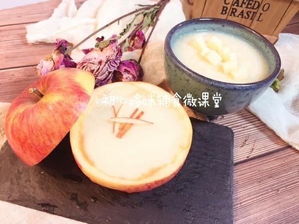 宝宝辅食:山药小米苹果糊成品图