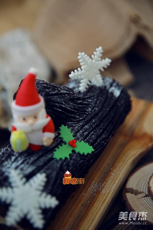 圣诞树根蛋糕成品图