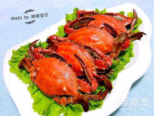 清蒸飞蟹成品图