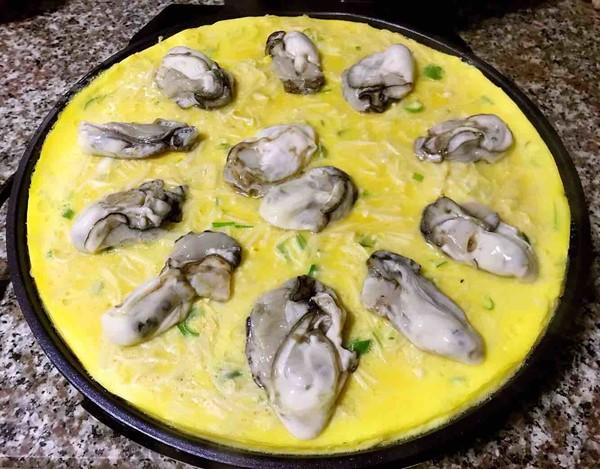 #早餐#牡蛎金针菇蛋饼怎么做