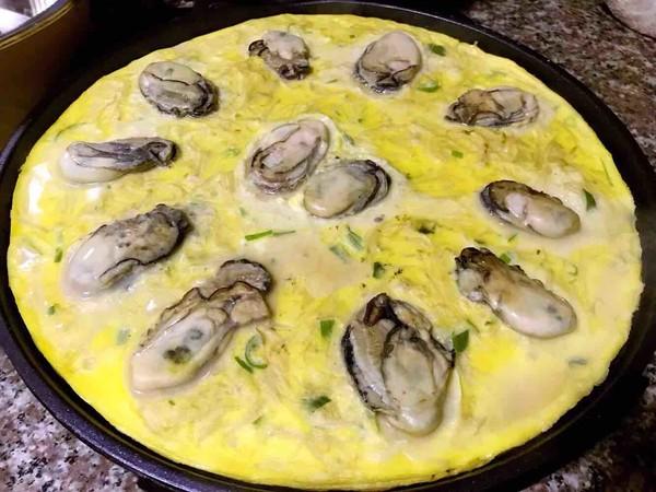 #早餐#牡蛎金针菇蛋饼怎么炒