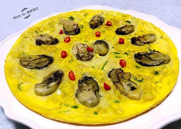#早餐#牡蛎金针菇蛋饼怎么煮