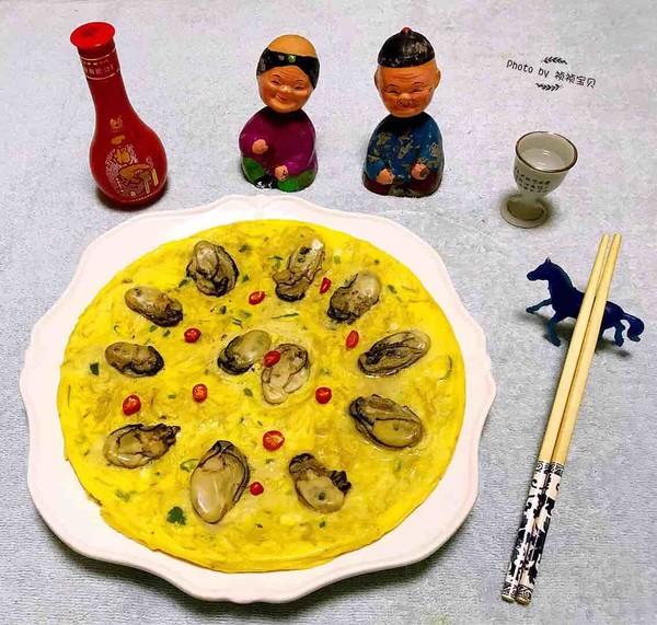 #早餐#牡蛎金针菇蛋饼怎样做