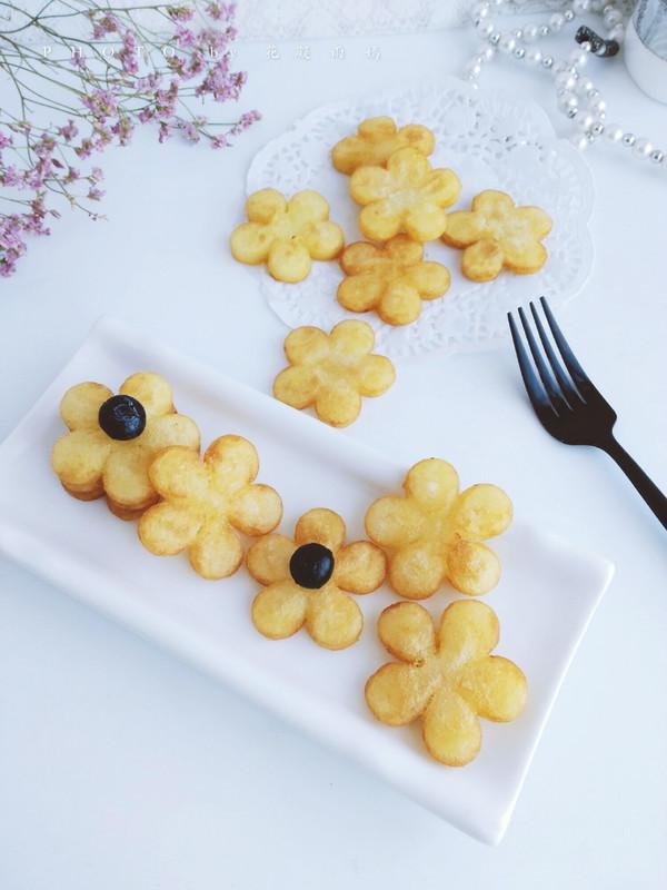 樱花土豆饼成品图