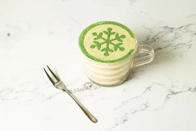 下午茶的好搭档,自制抹茶木糠杯成品图