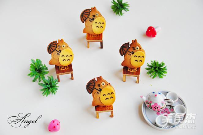 龙猫饼干成品图
