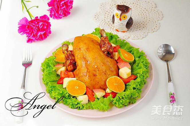 感恩节烤鸡成品图