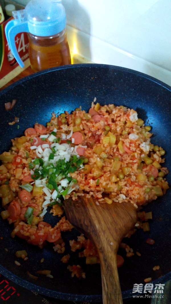 番茄香肠饭