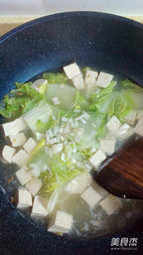 白菜炖豆腐怎么炒