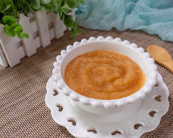 缓解宝宝腹泻的蒸苹果泥 宝宝辅食成品图