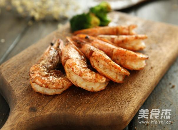 香煎大明虾成品图
