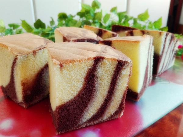 斑马纹古早味蛋糕成品图
