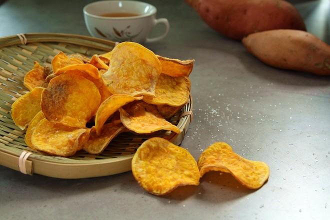 奶香烤红薯片成品图
