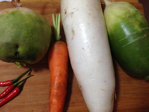 泡椒什锦萝卜的做法大全