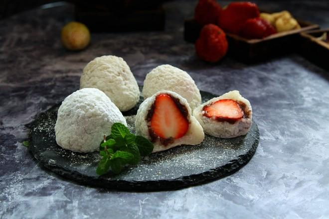 糯米版草莓大福成品图