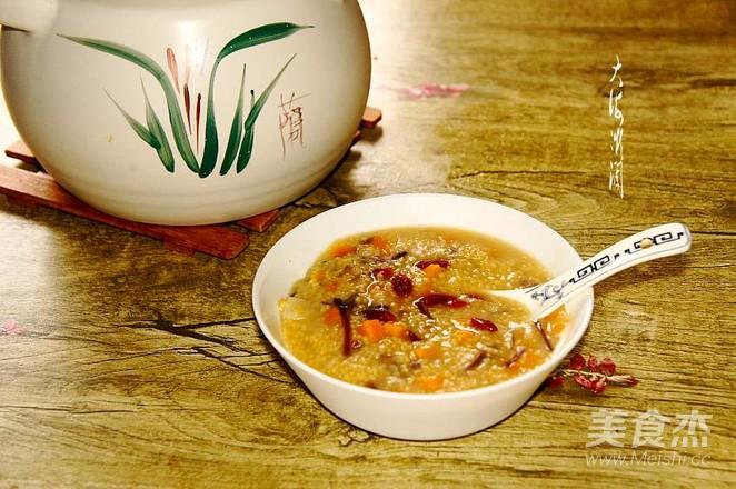 瓜蔬小米嚯嚯粥成品图