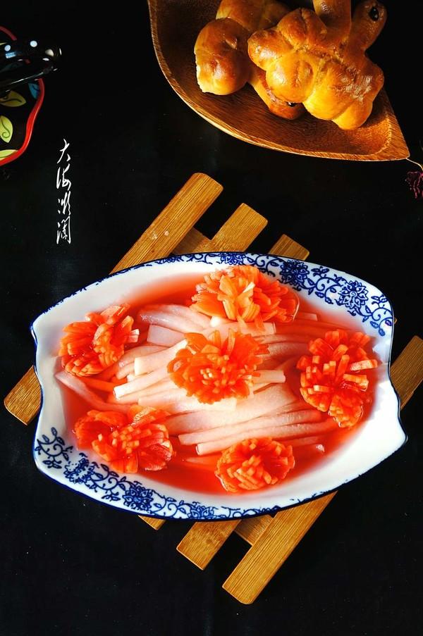 糖醋萝卜花成品图