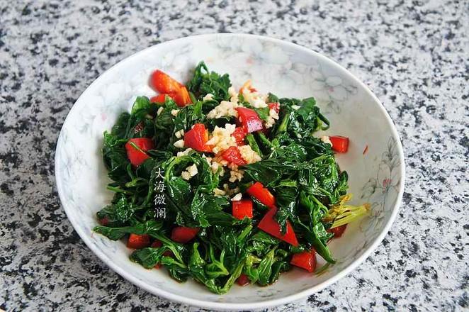 蒜香芹菜叶怎么煮