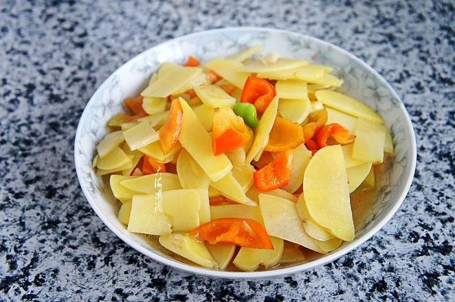 青椒炒土豆片成品图