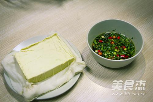 豆浆机版自制豆腐成品图