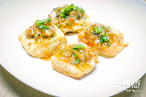 虾仁香菇豆腐酿成品图