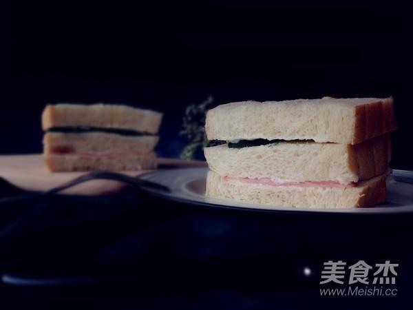 快手三明治成品图