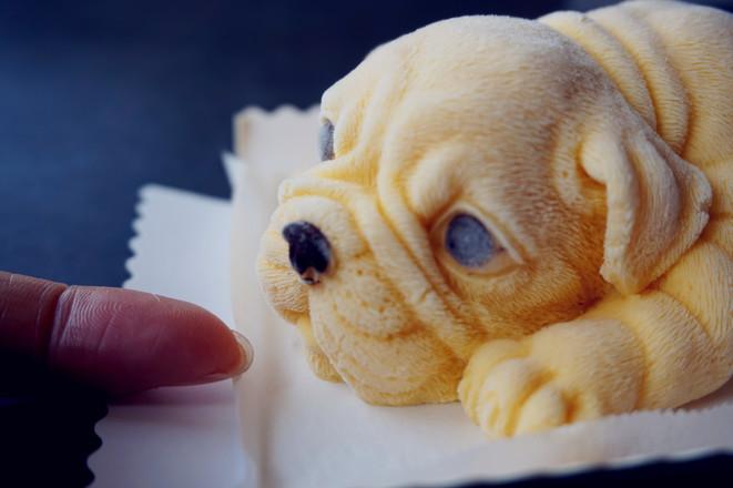 3D沙皮狗慕斯蛋糕成品图