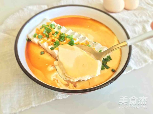 咸蛋黄豆腐蒸嫩蛋成品图