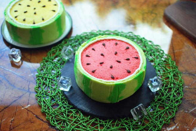 西瓜蛋糕成品图