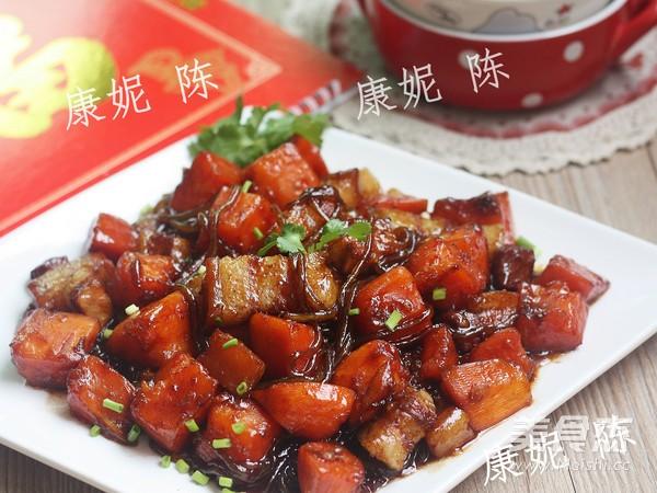 木瓜红烧肉成品图