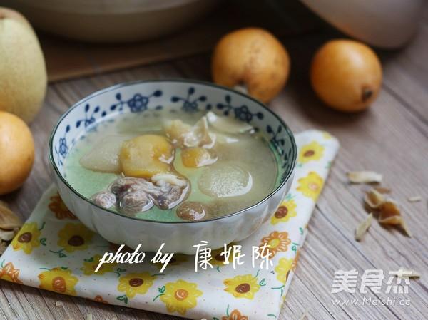雪梨枇杷瘦肉汤成品图