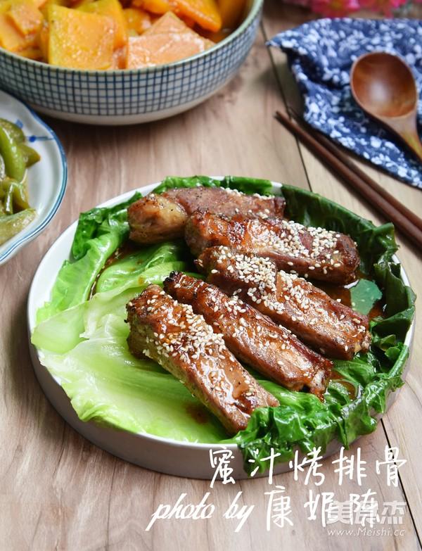 广东改良版蜜汁烤排骨成品图