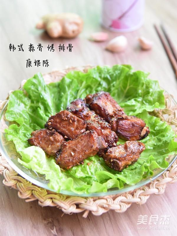 韩式蒜香烤排骨成品图