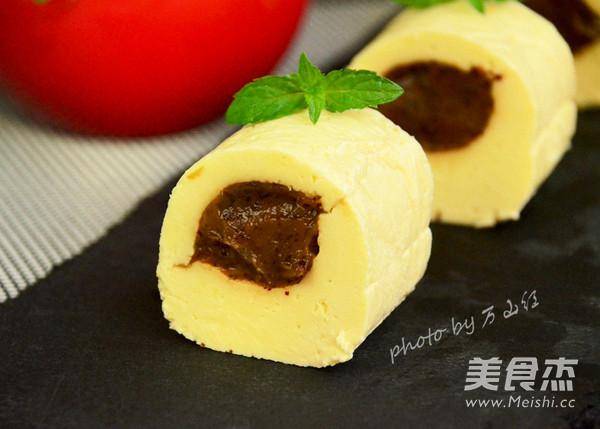 老北京奶酪卷成品图