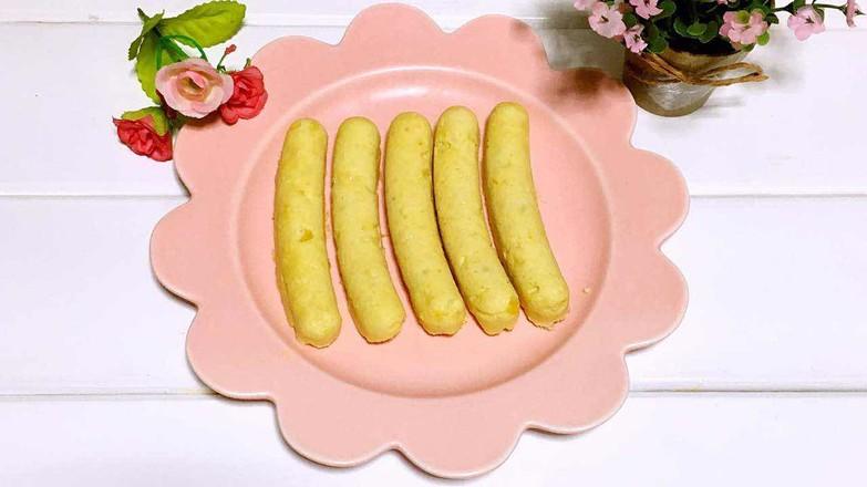 宝宝辅食之鸡肉玉米肠成品图