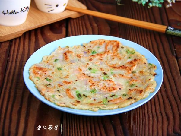 藕丝鲜虾饼成品图