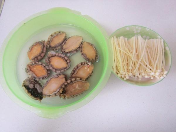 金针菇蒸鲍鱼的做法图解