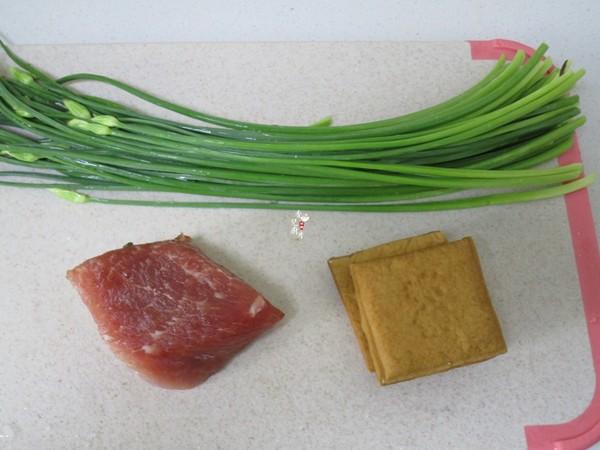 韭菜苔豆干炒肉丝的做法大全