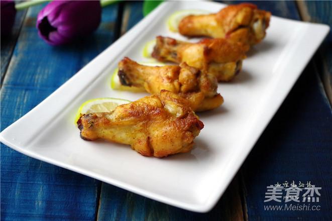 咖喱鸡翅根成品图
