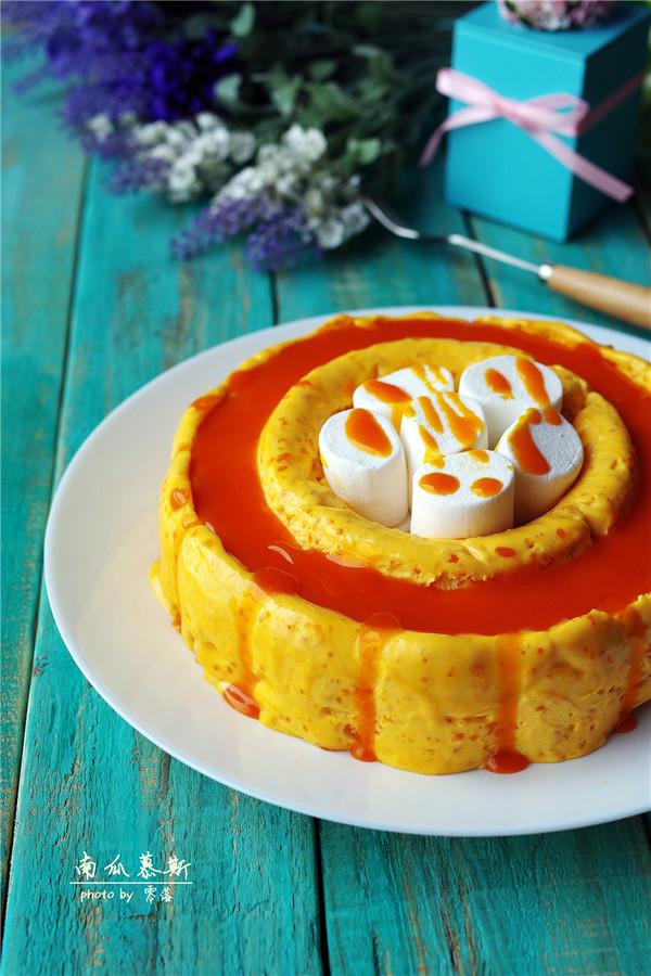 南瓜慕斯蛋糕成品图