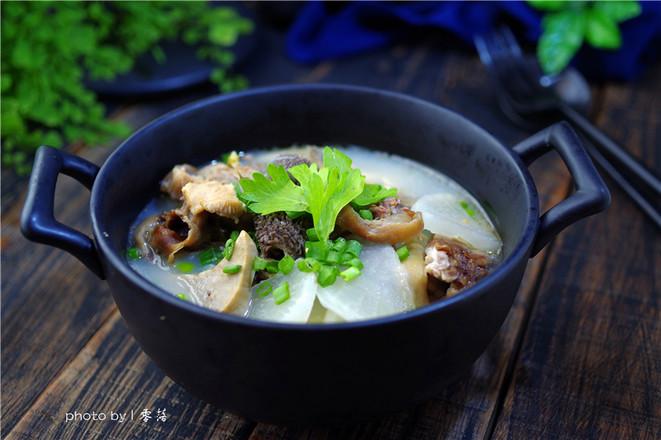 【三羊开泰】白萝卜羊杂汤成品图