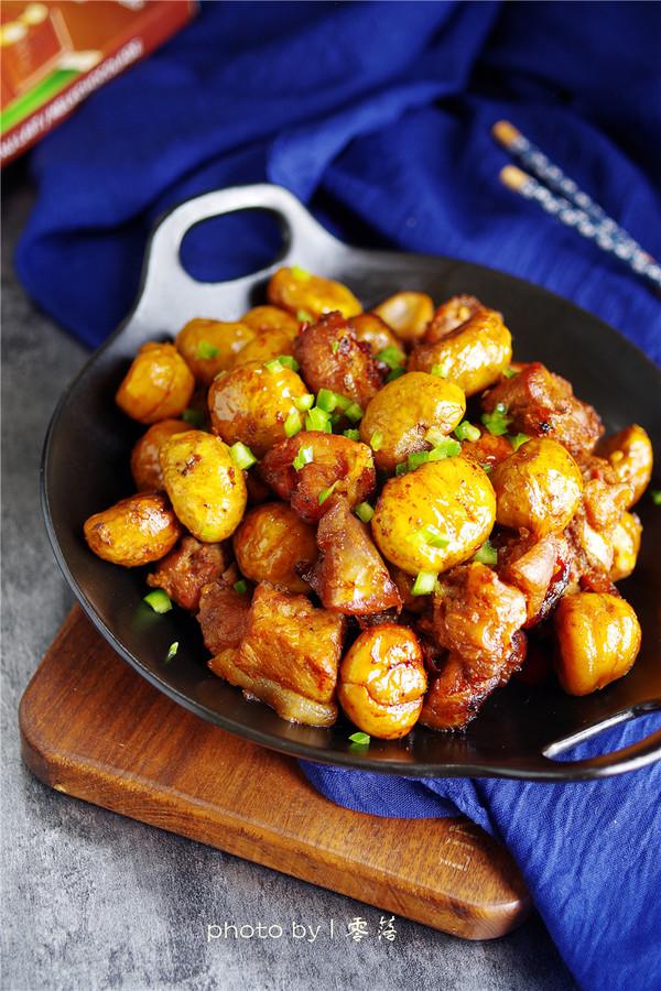 年夜饭硬菜之板栗红烧肉成品图