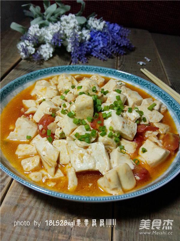 茄汁豆腐成品图