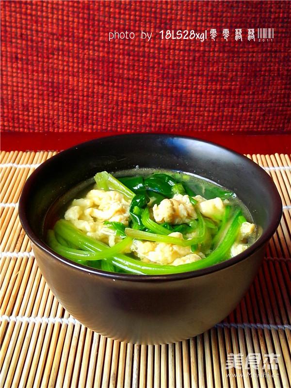 菠菜汤成品图