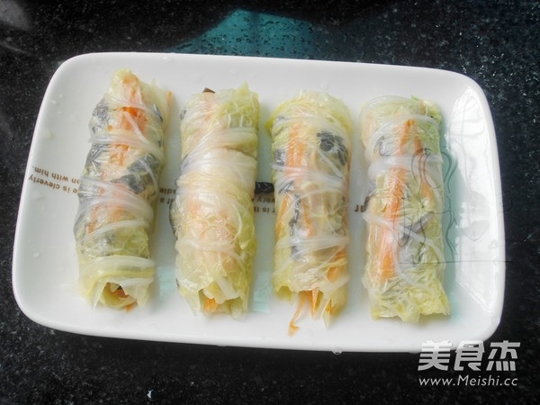 蒸白菜卷怎么炒