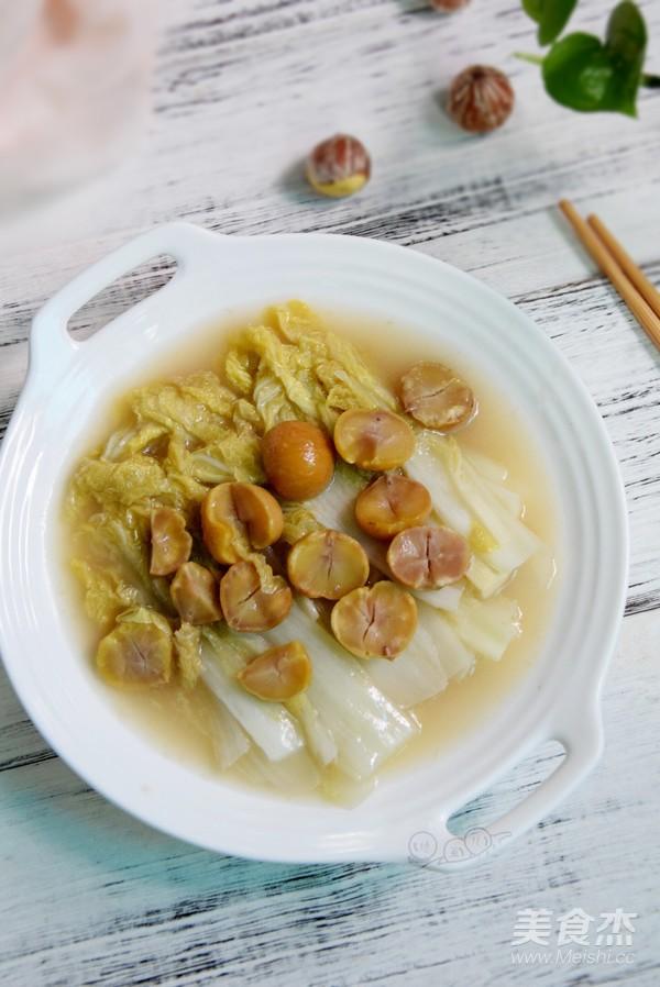 栗子炖白菜成品图