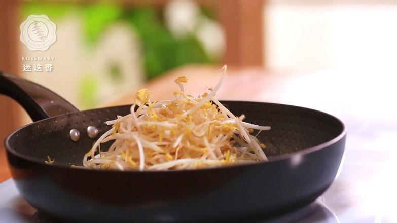 韭菜炒绿豆芽的做法图解