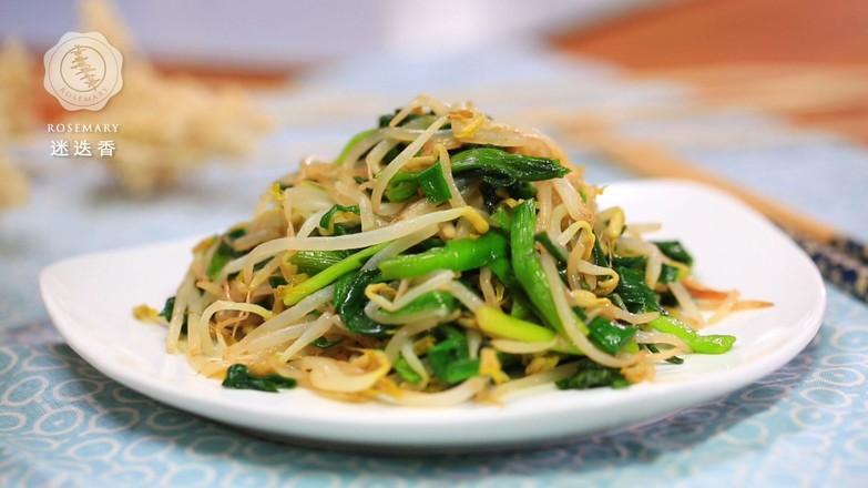 韭菜炒绿豆芽怎么吃