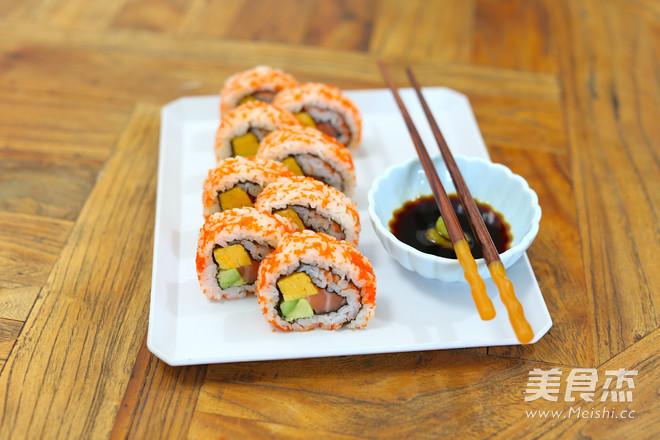 锦绣反卷寿司成品图