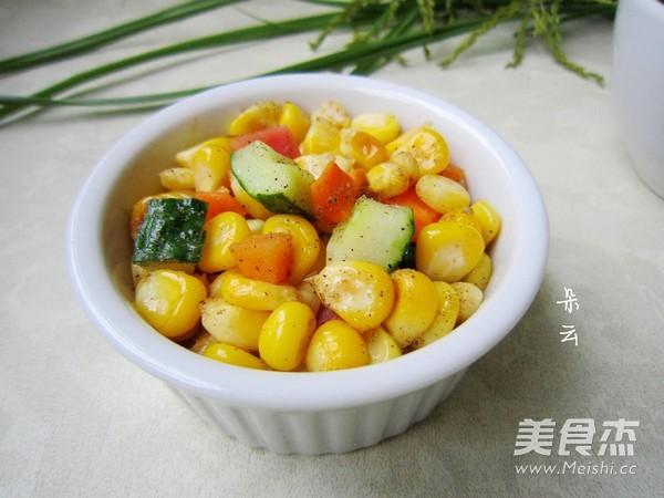 椒盐玉米成品图
